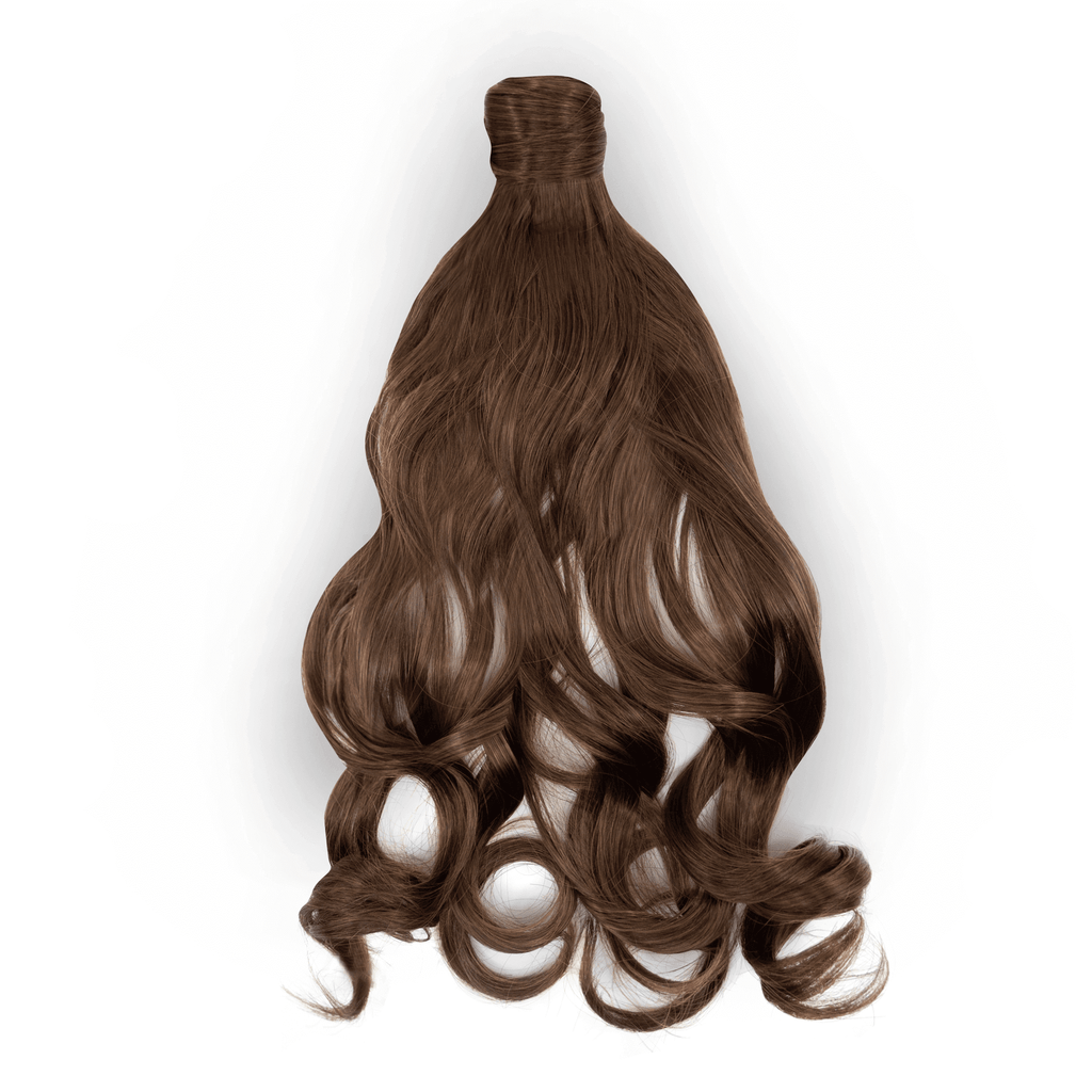 Clip-In Wrap Ponytail Curly - Brown Shade M2/30 22""