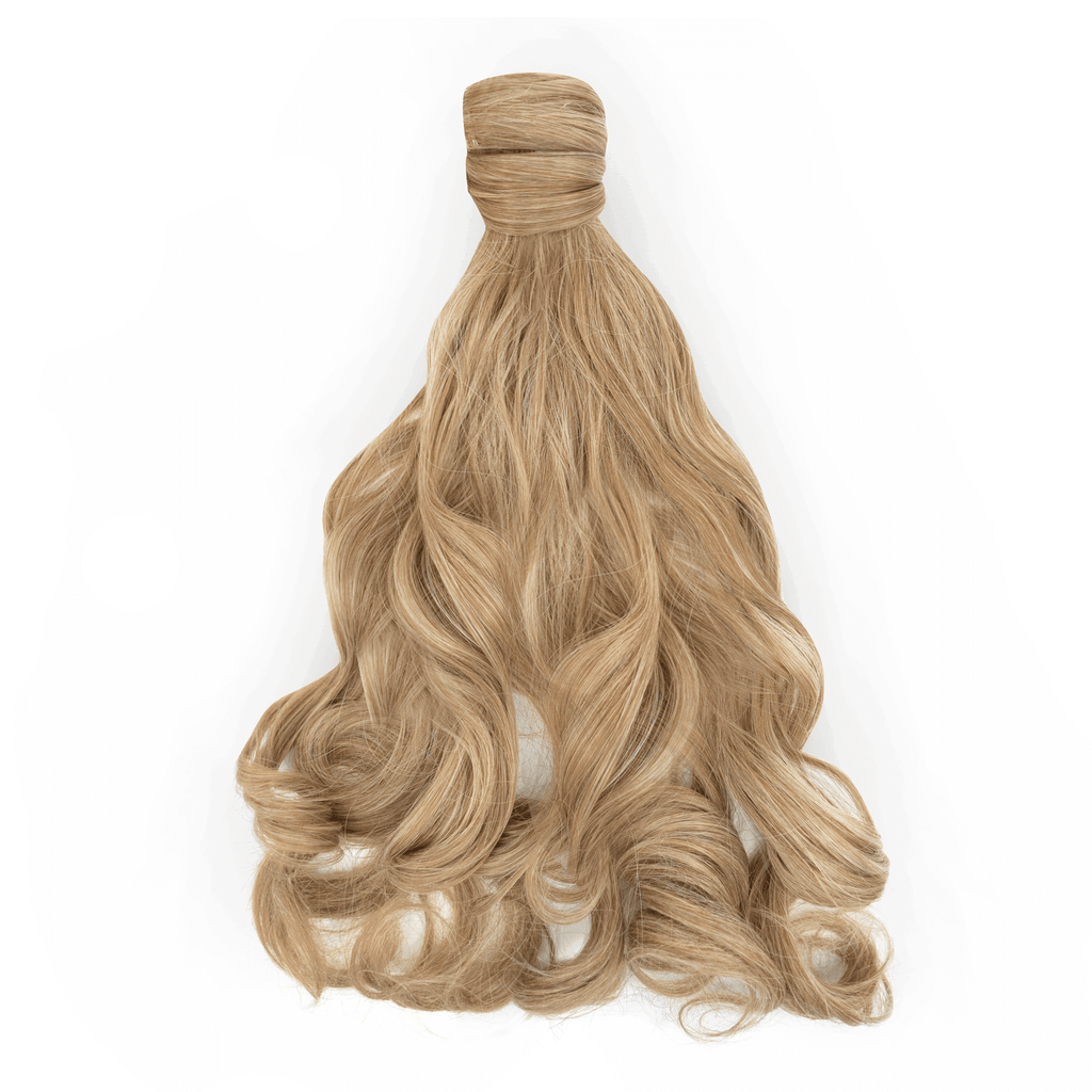 Clip-In Wrap Ponytail Curly - Blonde Shade M27/613 22""