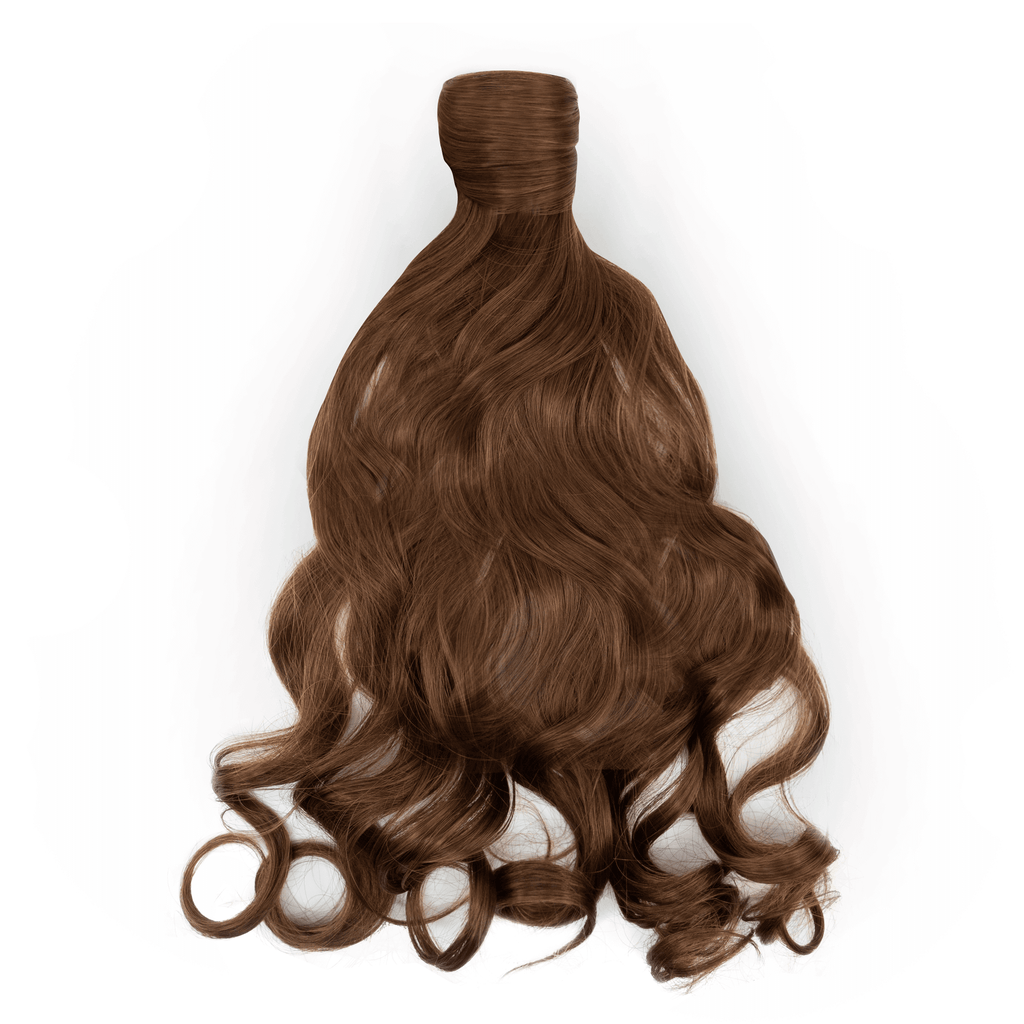 Clip-In Wrap Ponytail Curly - Brown Shade M4/30 22""