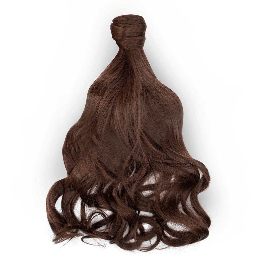 Clip-In Wrap Ponytail Curly - Brown Shade M4/33  22""