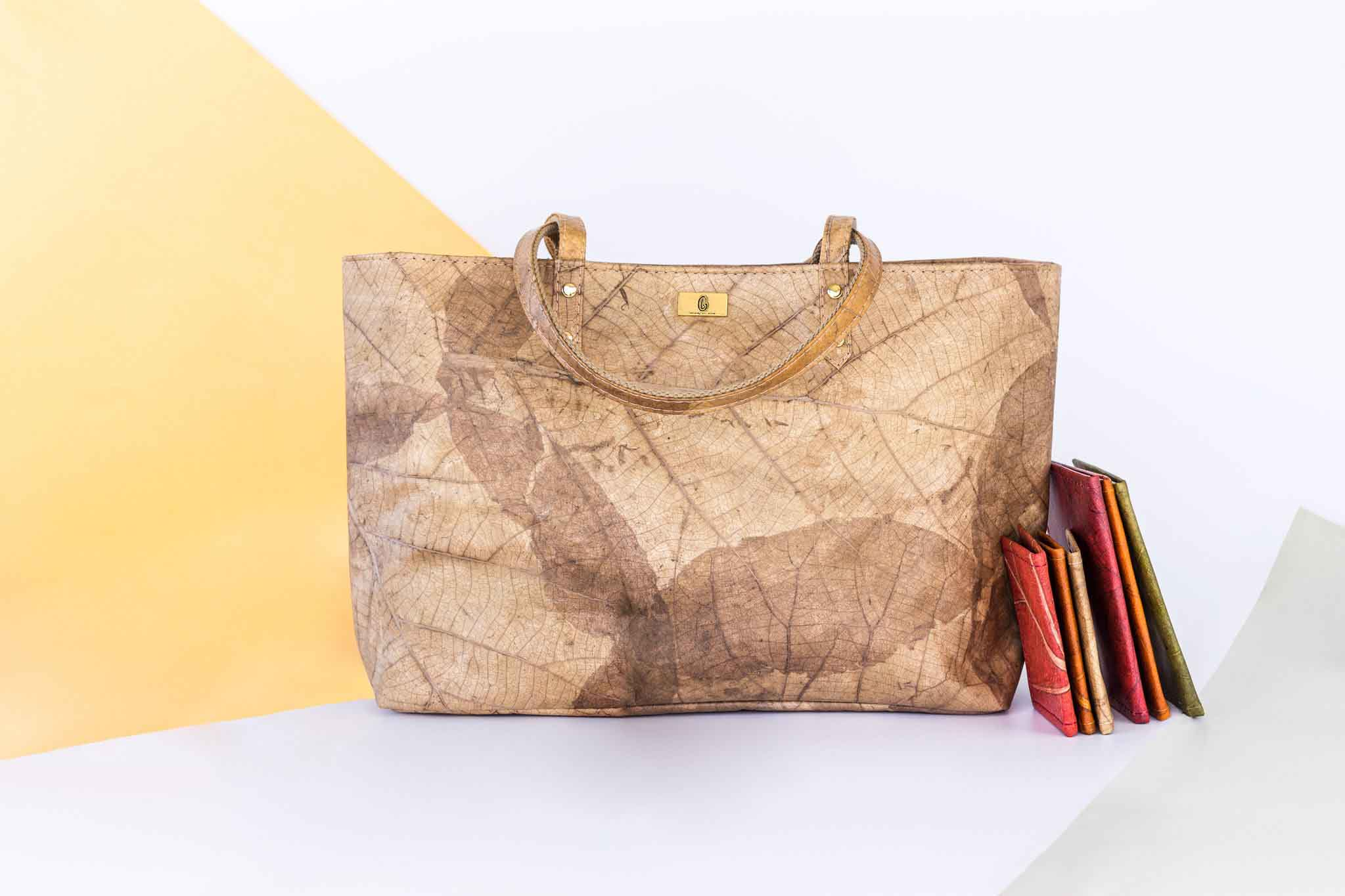 GNL Accessories Leaf Leather Handbag and wallets