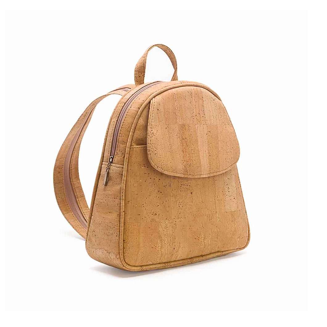 Natural cork backpack, side view