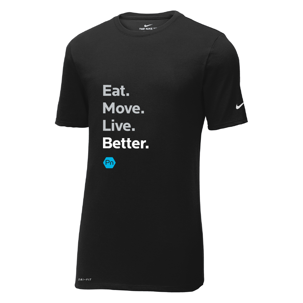 "Men's PN ""Eat. Move. Live Better."" Nike Dri-Fit Crew Tee"
