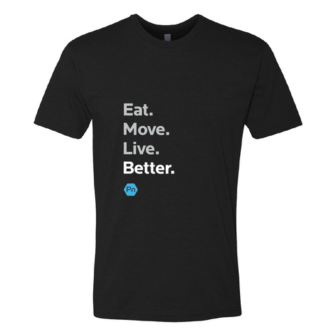 "Unisex PN ""Eat. Move. Live Better."" Crew Tee"