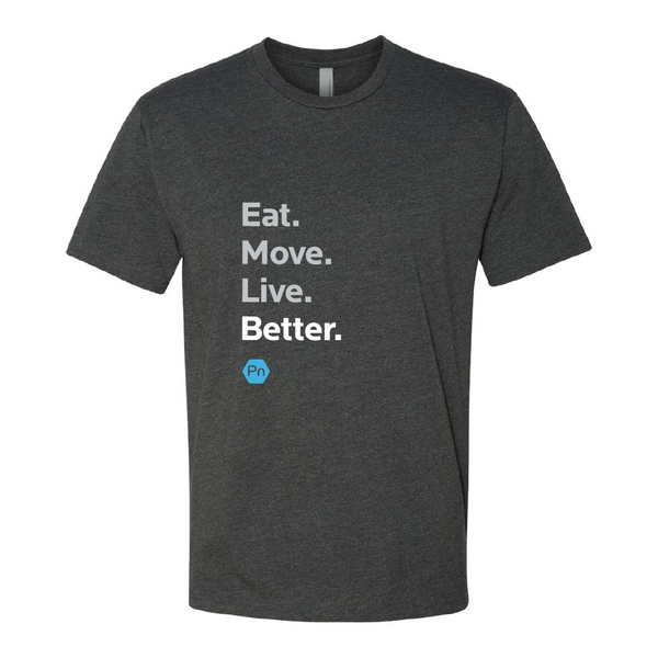 "Men's PN ""Eat. Move. Live Better."" Crew Tee"