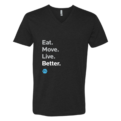 "Men's PN ""Eat. Move. Live Better."" V-Neck Tee"