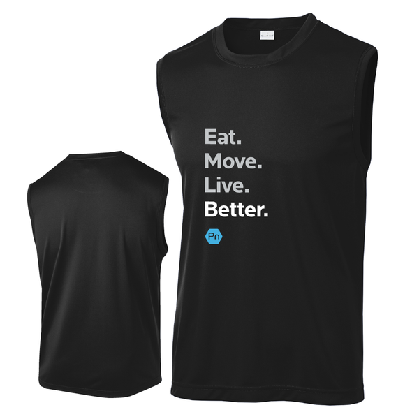"Men's PN ""Eat. Move. Live Better."" Tank Top"
