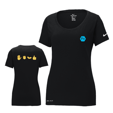 "Women's PN ""Hand Portions"" Nike Dri-Fit Scoop Neck Tee"