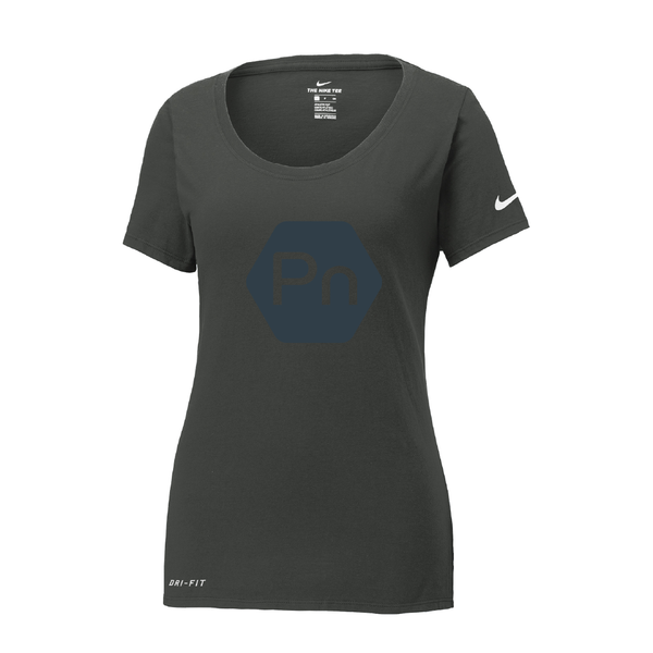 "Women's ""Large PN Logo"" Nike Dri-Fit Scoop Neck Tee"