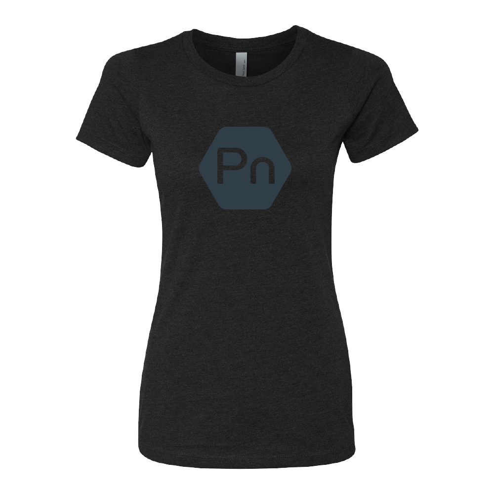 "Women's Fitted ""Large PN Logo"" Crew Tee"