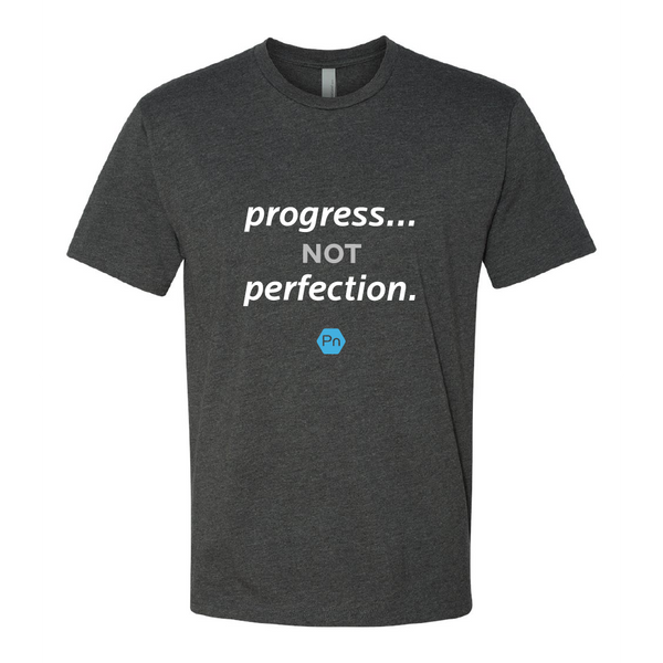 "Unisex PN ""Progress not Perfection."" Crew Tee"