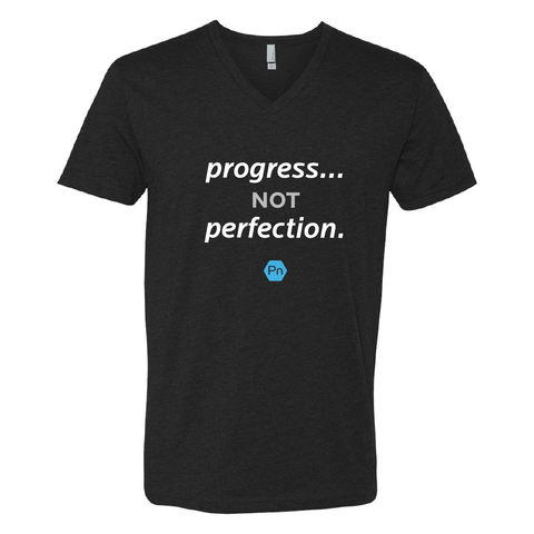 "Men's PN ""Progress not Perfection."" V-Neck Tee"