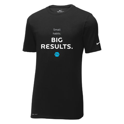 "Men's PN ""Small Habits. Big Results."" Nike Dri-Fit Crew Tee"
