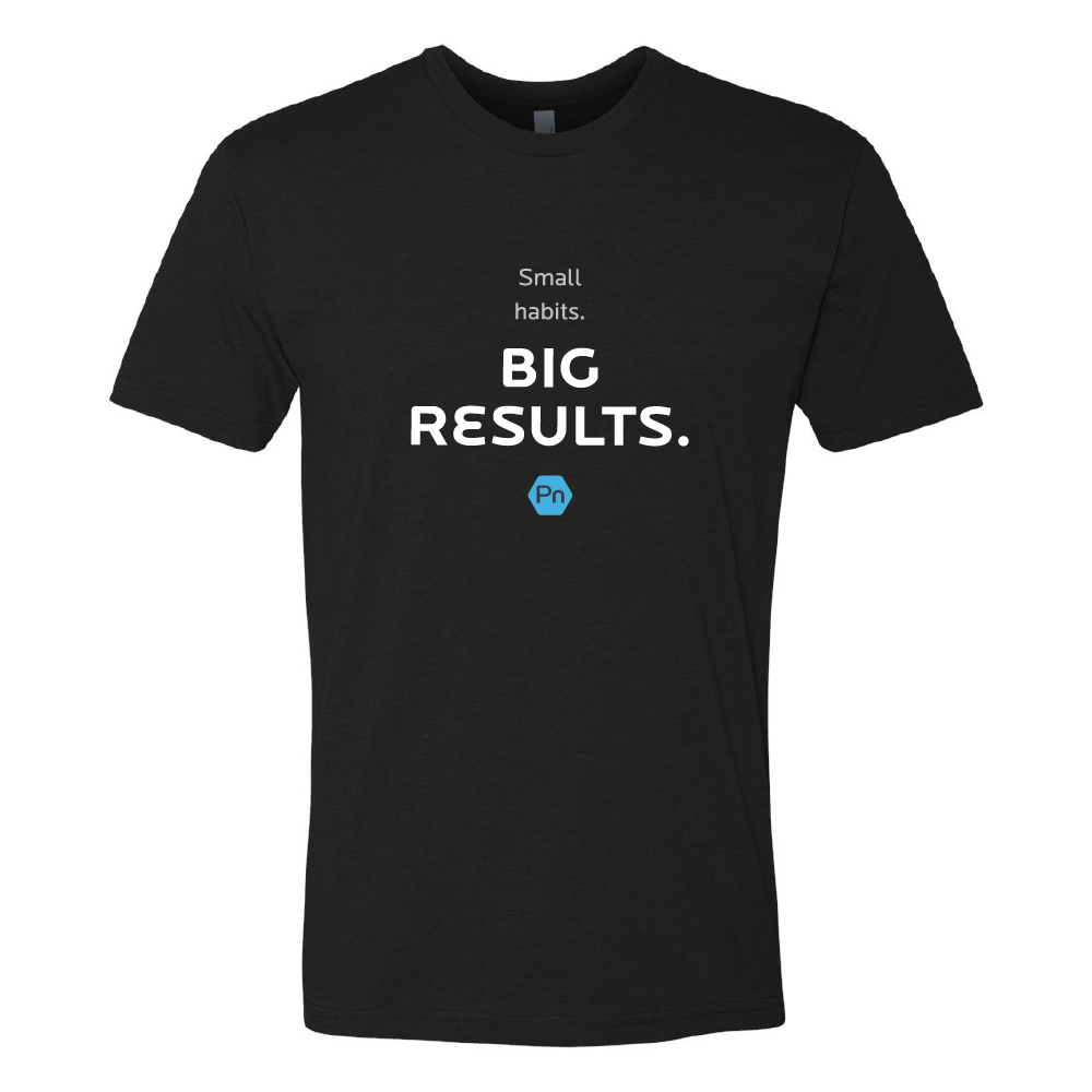 "Men's PN ""Small Habits. Big Results."" Crew Tee"