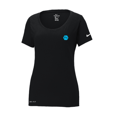 "Women's ""PN Logo"" Nike Dri-Fit Scoop Neck Tee"