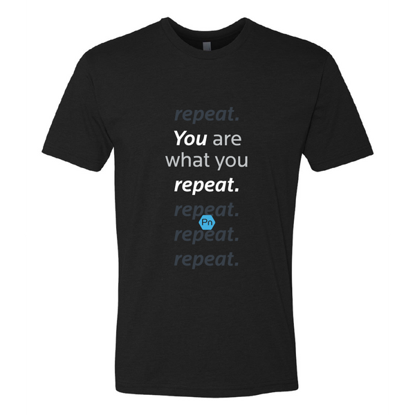 "Men's PN ""You are what you repeat."" Crew Tee"