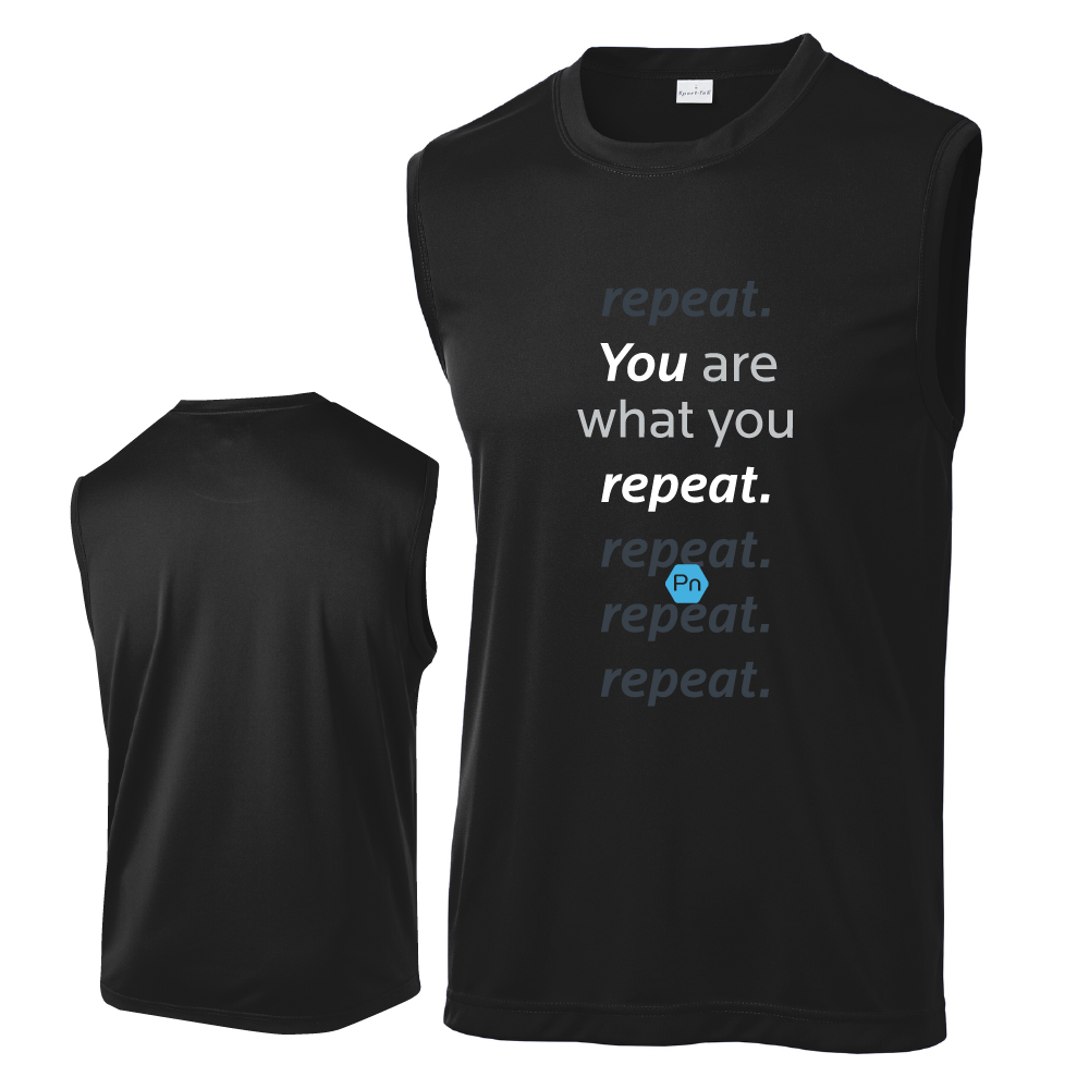 "Men's PN ""You are what you repeat."" Tank Top"