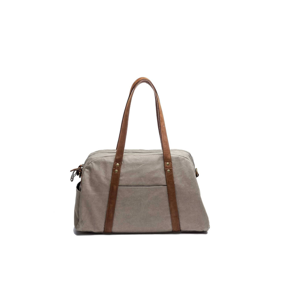 The Explorer - Canvas + Leather Weekender