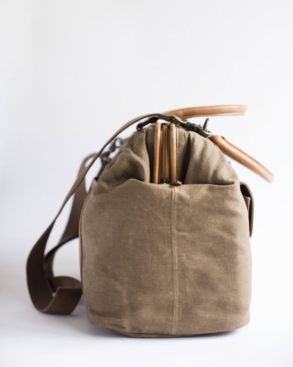 Jude 3.0 - Canvas and Full Grain Leather Duffel - Kelly Moore Bag