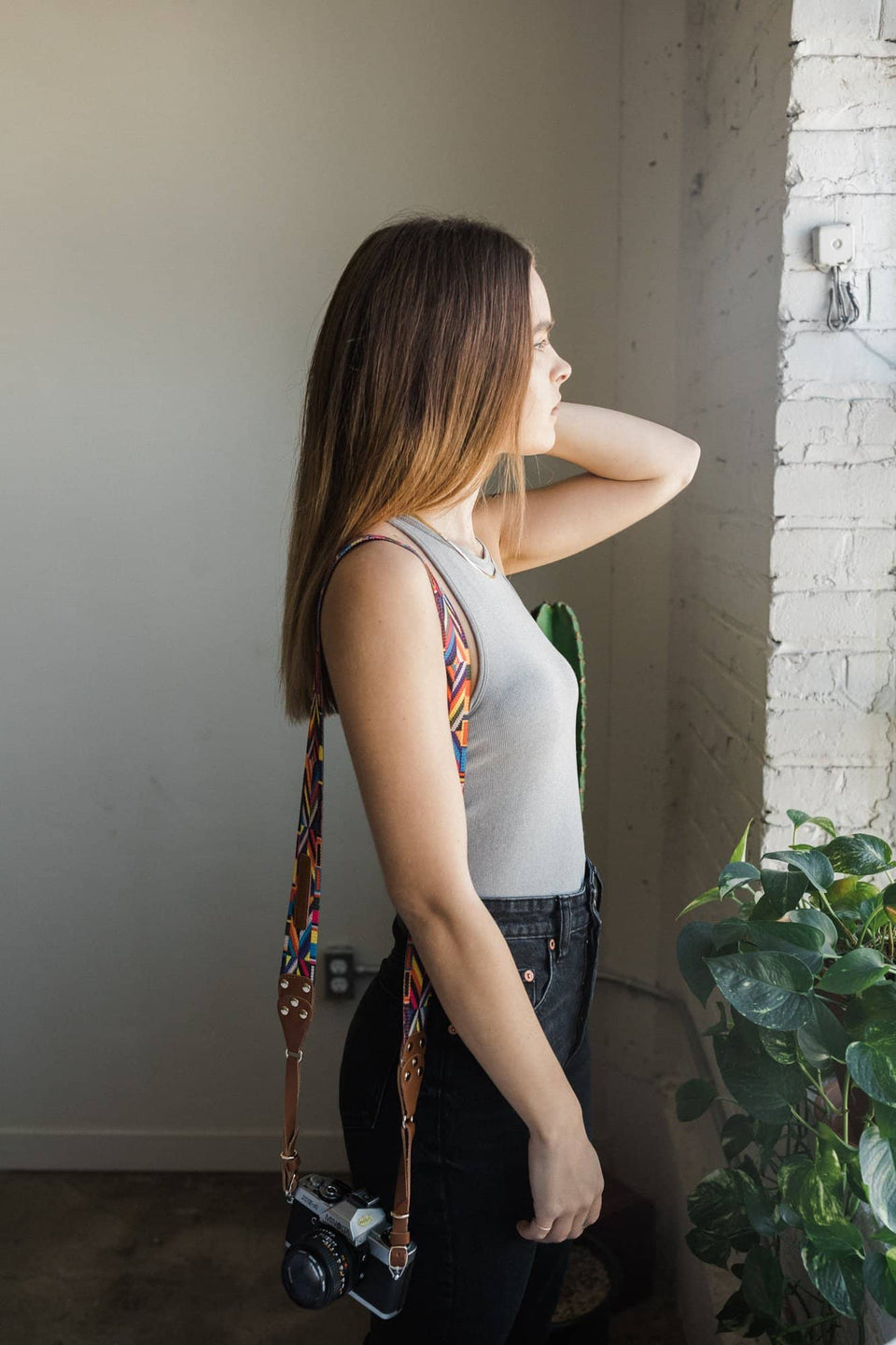 Multi-Colored Messenger Camera Strap - Kelly Moore Bag