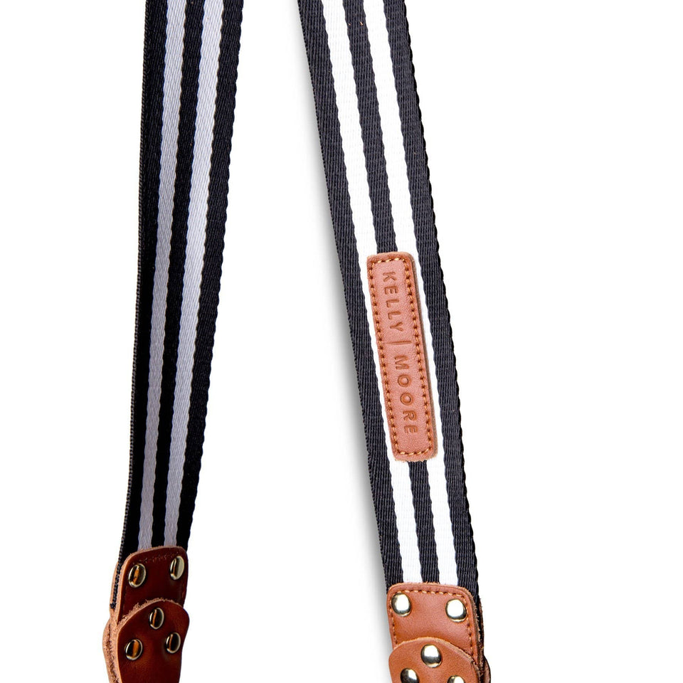 Stripe Messenger Camera Strap - Kelly Moore Bag