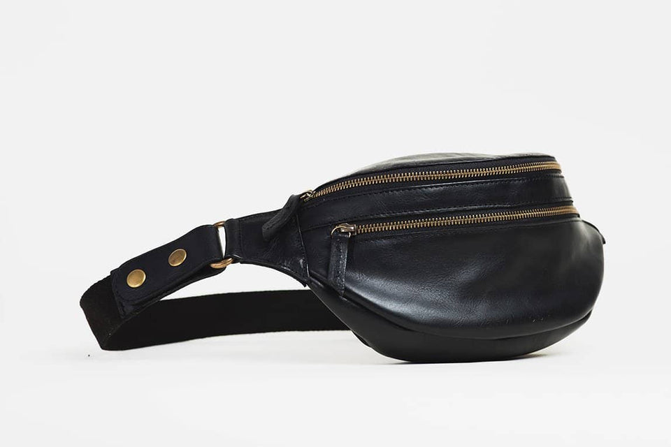 The Bum Bag - Full Grain Leather Fanny Pack - Kelly Moore Bag