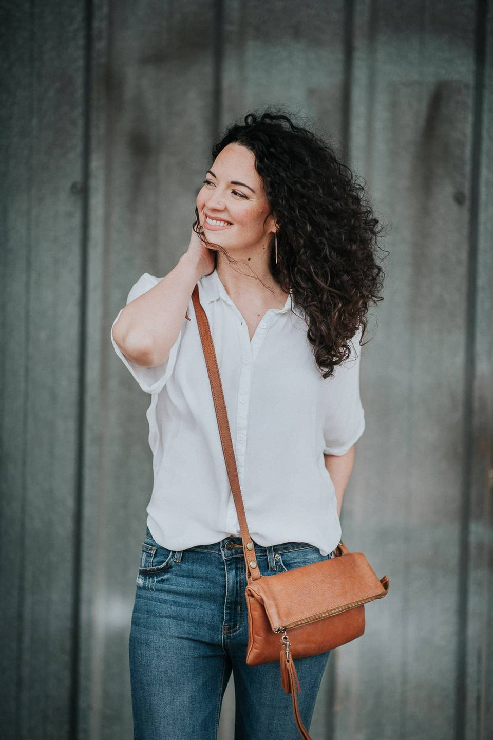 The Clutch Carry-all - Full Grain Leather 3 in 1 bag - Kelly Moore Bag