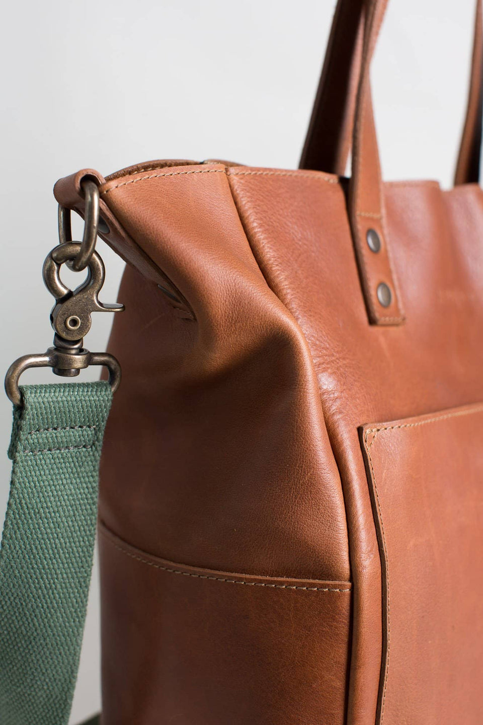 The Daniela - Full Grain Leather Simple Tote - Kelly Moore Bag