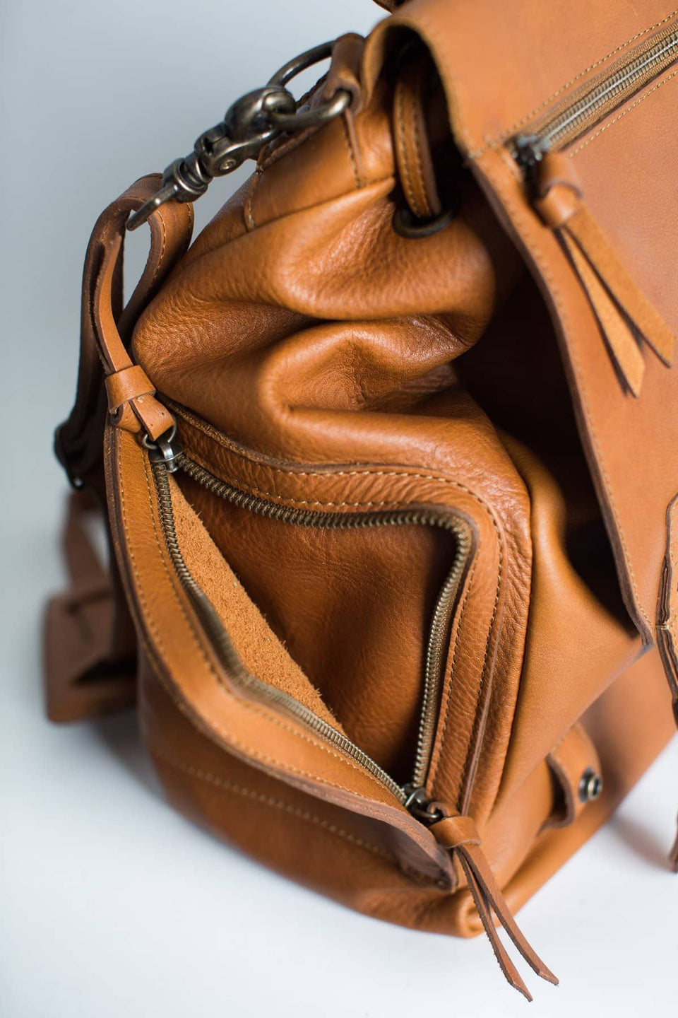 The Kelly - 3 Way Carry Full Grain Leather Backpack - Kelly Moore Bag