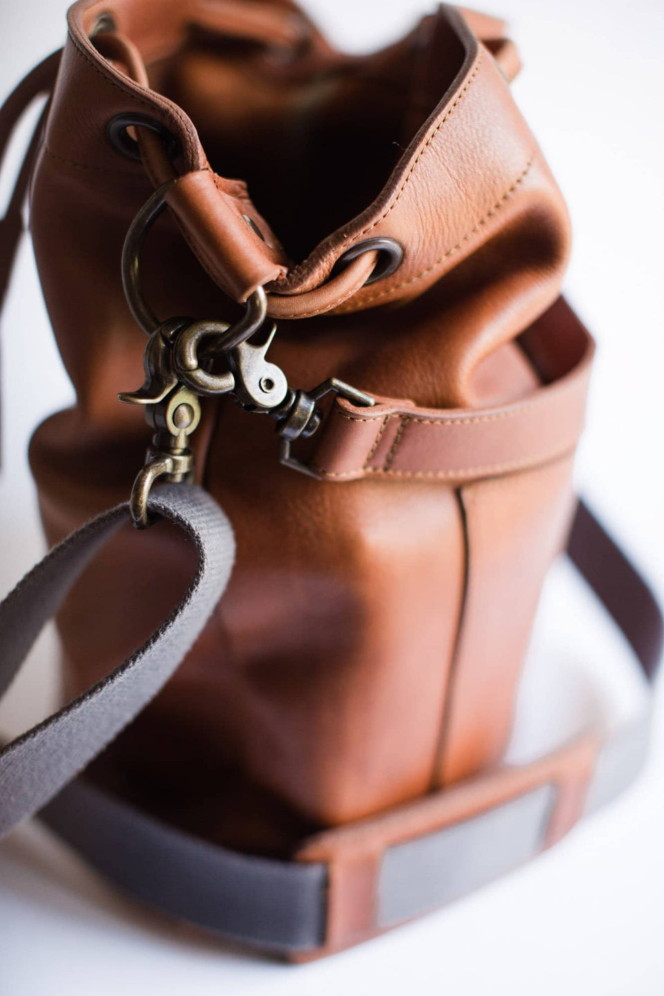 The Mary Arthur - Full Grain Leather Bucket Bag - Kelly Moore Bag