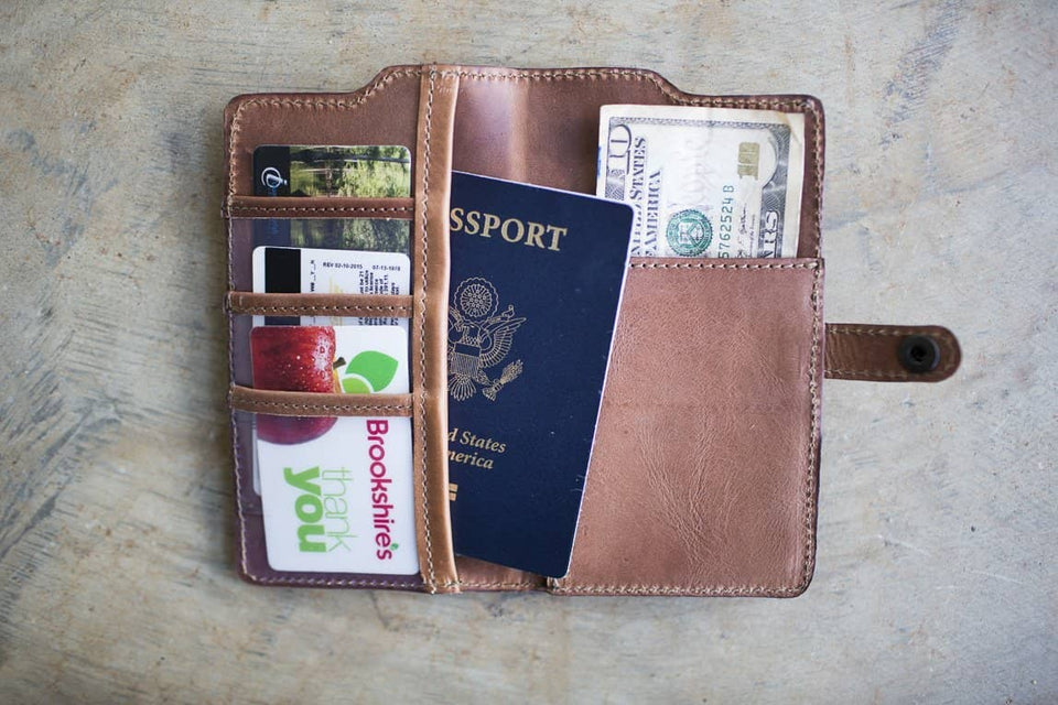 The Passport Wallet - Leather Travel Organizer - Kelly Moore Bag