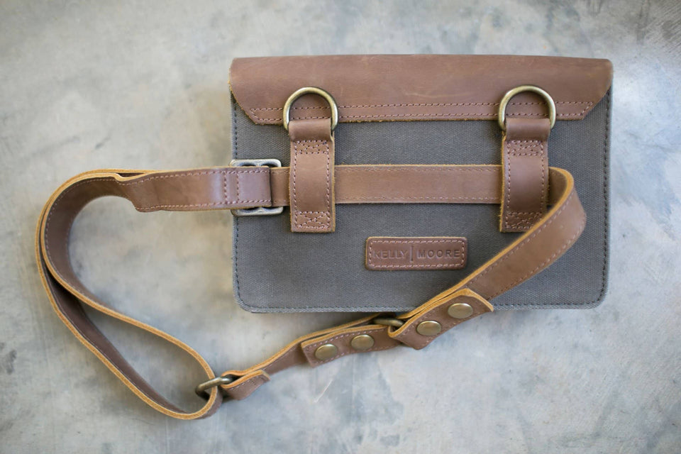 The Wearable Wallet - Canvas + Leather Crossbody and Belt Bag - Kelly Moore Bag