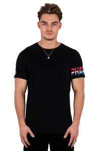 <b>PC106</b><br>T-shirt<br>Flock multicolour logo<br>