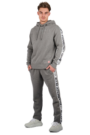 <b>PC204 grey melange</b><br>Hoody<br>3D signature logo embroidery <br>