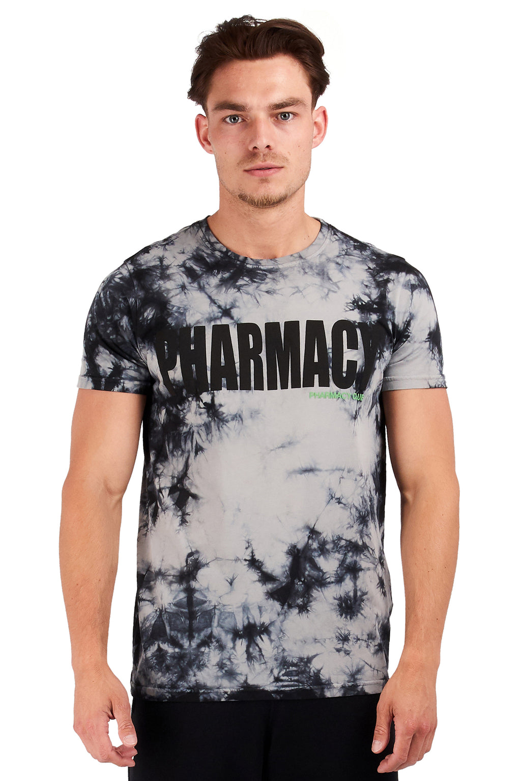 <b>PC118</b><br>T-shirt<br>Tie-dye allover with signature print<b