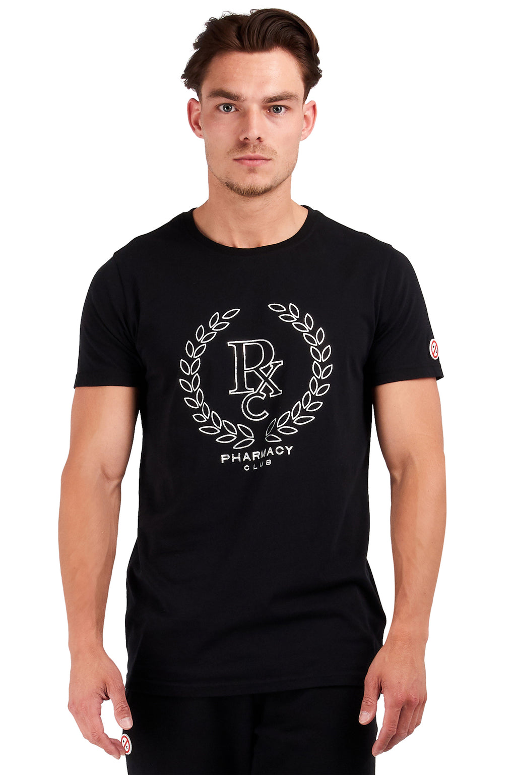 <b>PC114</b><br>T-shirt<br>Silver laurel print<br>