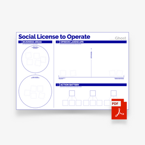 Social License to Operate - Digital Canvas