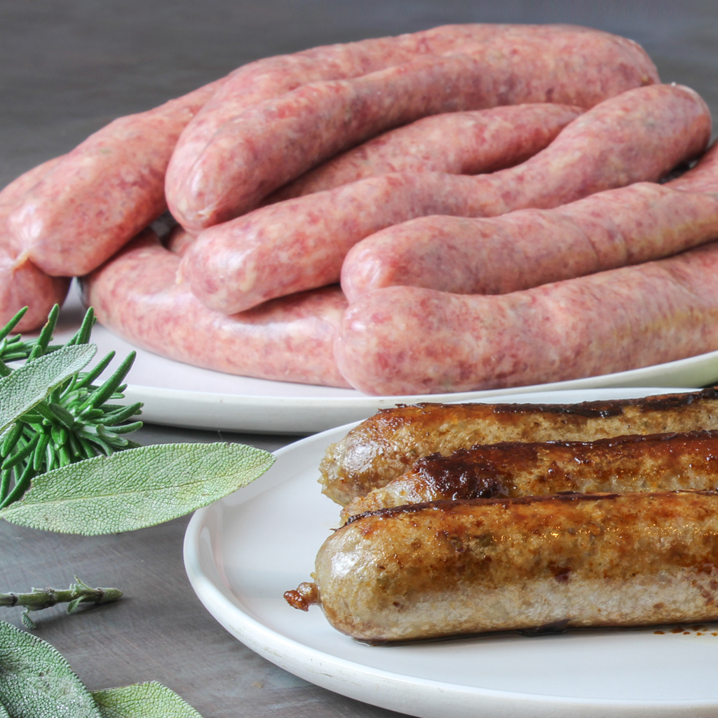 Made from scratch homemade Beef sausages