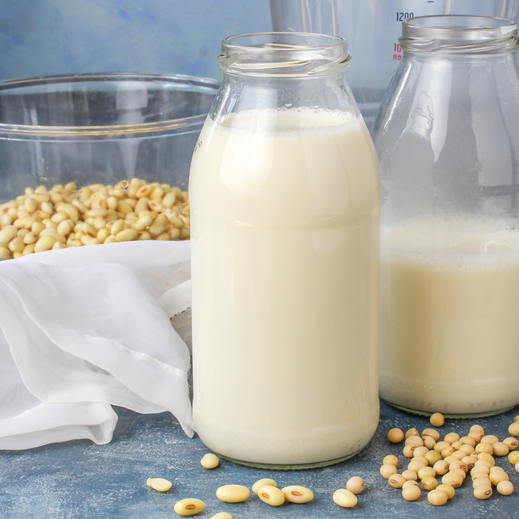 Step by Step homemade soy milk