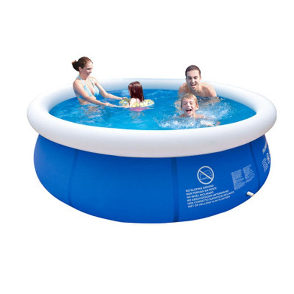 Shoedoes Outdoor Inflatable Swimming Pool Anti-exposure Anti-crack Round Family Water Park Pool for Children Adults