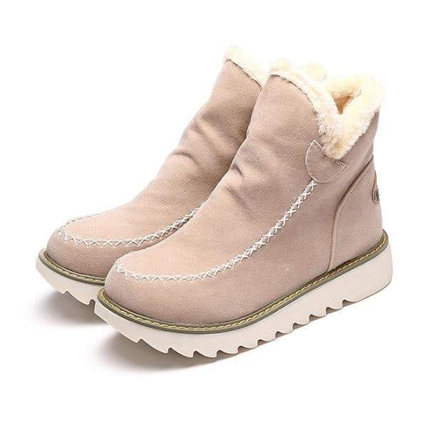 Shoedoes Fur Lining Ankle Snow Boots