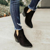 Shoedoes Cut Out Booties Ankle Heels Boots
