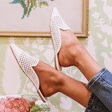 Shoedoes Lila Woven Flat Point Toe Slippers