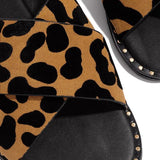 Shoedoes Strap Crossover Detail Cushioned Insole Slippers