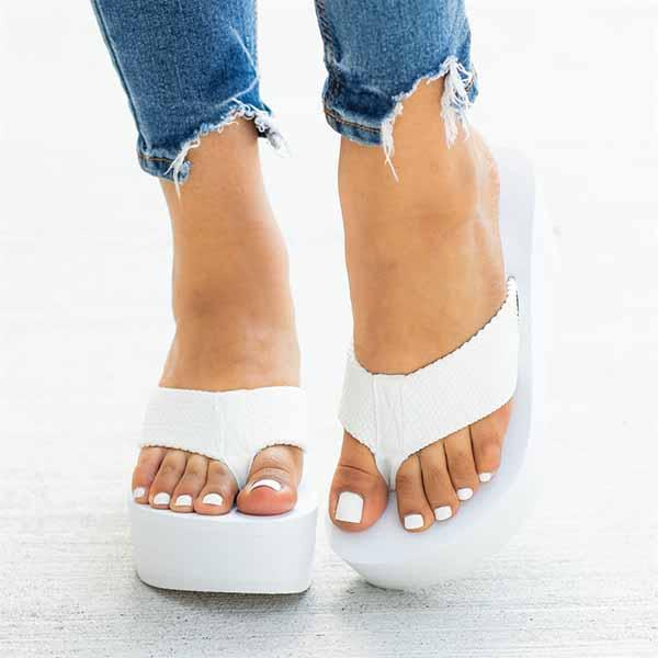Shoedoes Flip-flops Foam Wedge Heel Sandals
