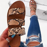 Shoedoes Stylish Slip-On Flip Flop Serpentine Summer Slippers