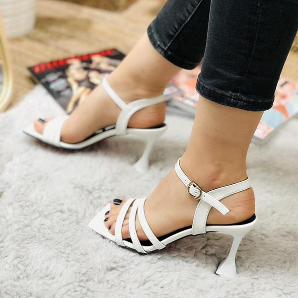 Shoedoes Solid Minimalist Sexy Tapered Heels