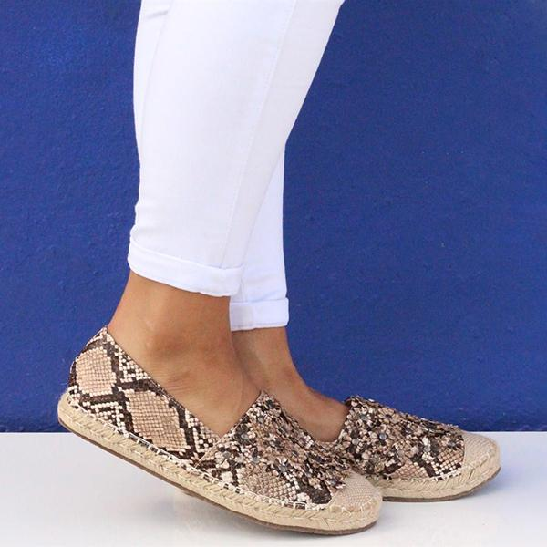 Shoedoes Miquele Slip-On Espadrille Flat Sneakers