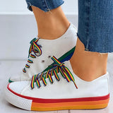 Shoedoes Colorblock Lace-Up Casual Sneakers