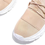 Shoedoes Mesh breathable Lightly Padded Insole Lace-Up Sneakers